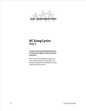 Kid Connection Y2 Song Lyrics (Download)