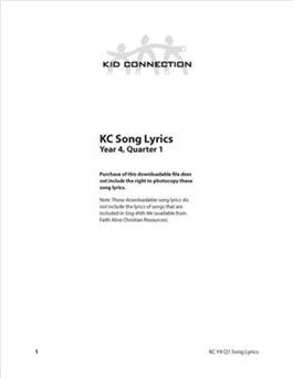 Kid Connection Y4 Song Lyrics (Download)