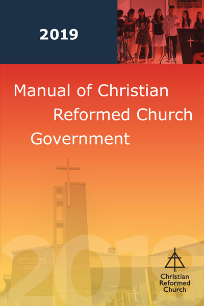 Manual of Christian Reformed Church Government