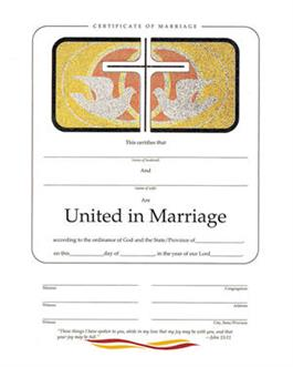 Marriage Foil Certificate