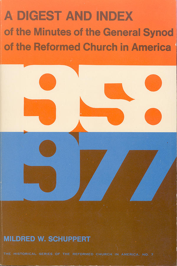 A Digest and Index of the Minutes of General Synod, 1958-1977