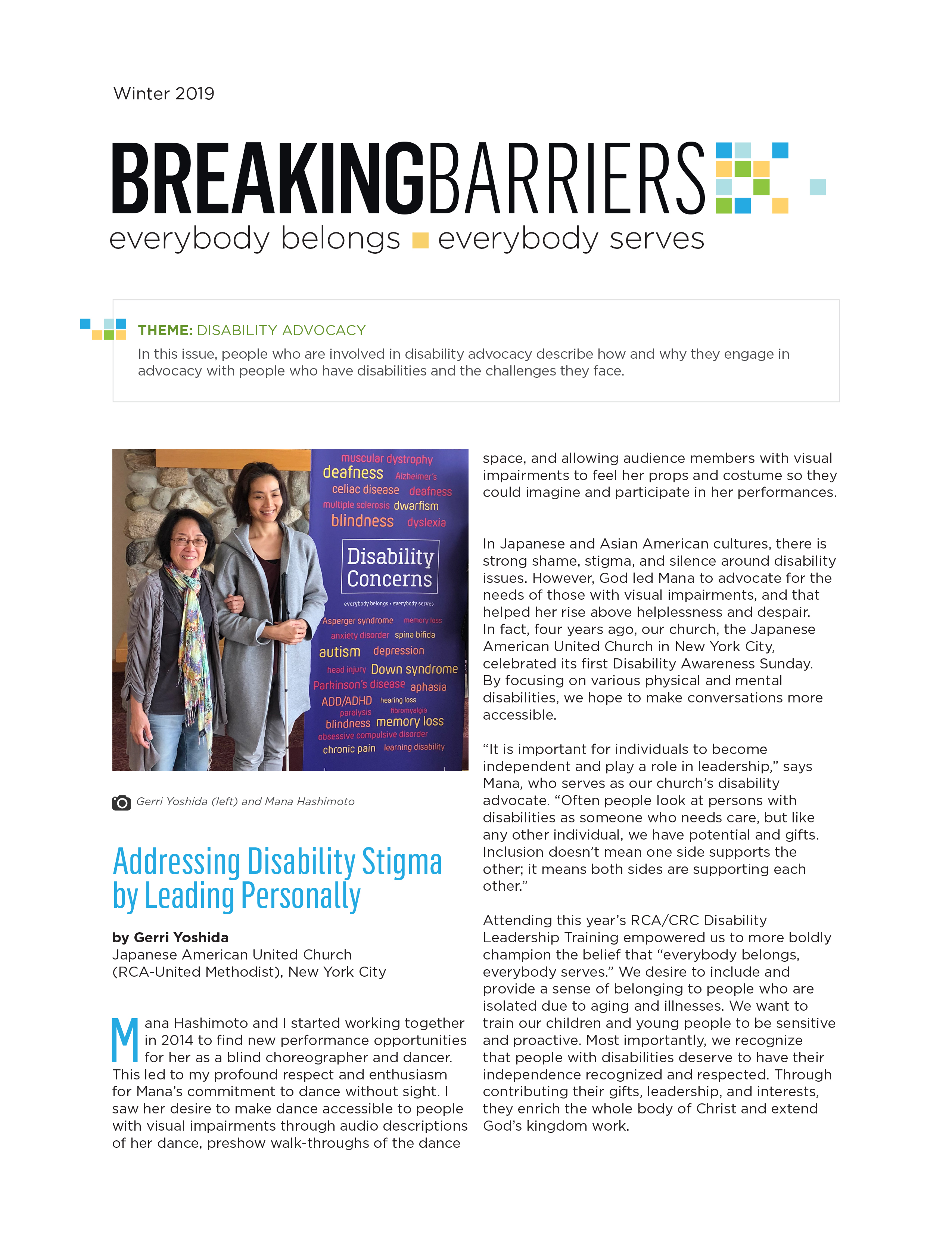Breaking Barriers Newsletter