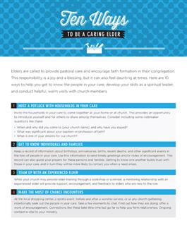 Ten Ways to Be a Caring Elder