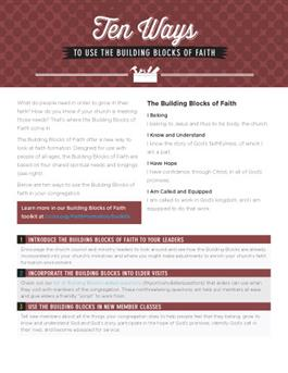 Ten Ways To Use Building Blocks of Faith