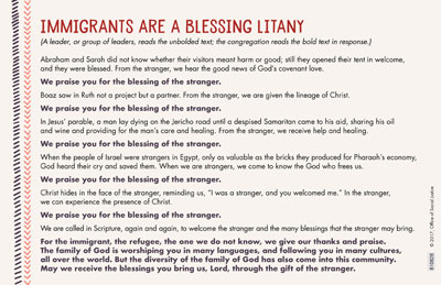 Immigrants Are a Blessing Litany/Insert