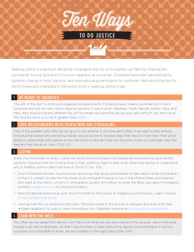 Ten Ways to Do Justice