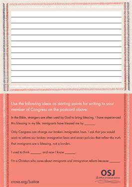 Immigration Advocacy Postcards