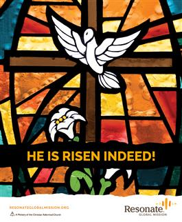 Easter Bulletin Cover - English