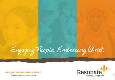 Engaging People, Embracing Christ Placemat