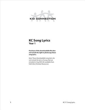 Kid Connection Y1 Song Lyrics (Download)