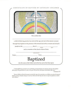 Baptism of Covenant Children Foil Certificate